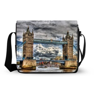 fashionable cute Bridge Of London England Oxford Fabric Messenger Bag,Shoulder Bag