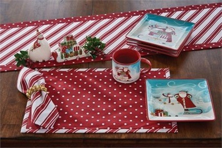 Park Designs Peppermint Candy Placemat - Set of 4