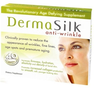 DermaSilk Anti-wrinkle Treatment Supplements, Clinically Proven to Reduce the Appearance of Wrinkles, Fine Lines, Age Spots and Premature Aging. Contains Astaxanthin, Anti-aging, Promotes Increased Collagen Production, for Smooth, Soft, Younger, Looking Skin. A Beauty Enhancing Supplement, Containing Natural Extracts, with Powerful - Antioxidants - And Dermall Restorative Properties. Dietary Supplement - 40 Capsules by DermaSilk