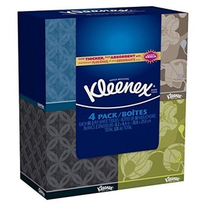 Kleenex Everyday Facial Tissue Upright 80 2 Ply 4 Pack by Kleenex