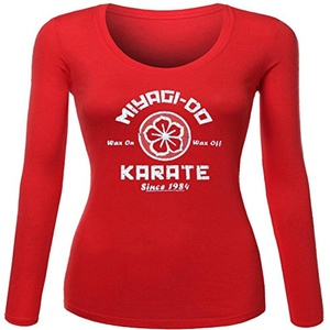 miyagi do karate for Women Printed Long Sleeve Cotton T-shirt