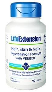 Hair, Skin & Nails Rejuvenation Formula with VERISOL 90 tablets by Life Extension