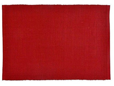Solid Tango Red Placemats, Set of 4