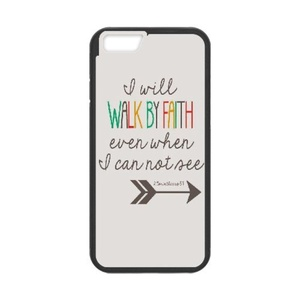 [Luo diedie]Call Phone Case for iPhone 7 plus Black with Bible Verse Christian Quotes Series of Pattern on