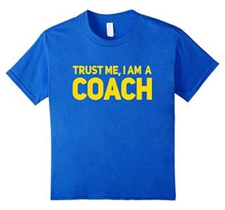 Kids Trust Me I'm A Coach T Shirt 10 Royal Blue