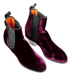 Penelope Chilvers Velvet Cubana Boots Size 6 (36eur) Purple New