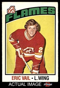 1976 O-Pee-Chee NHL # 51 Eric Vail Calgary Flames (Hockey Card) Dean's Cards 5 - EX
