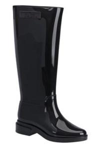 Melissa Women's Vegan Long Boot with Block Heel in Black (6 (US))