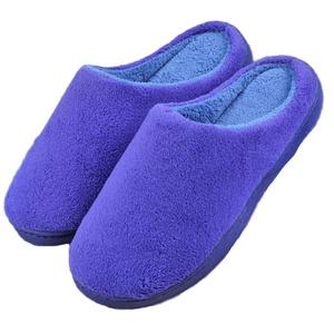 MiYang Women's & Men's Coral Fleece bedroom Slippers /Footwear Memory Foam Clogs blue 36/37