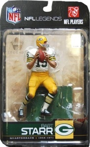 McFarlane Toys Action Figure - NFL Sports Picks Legends Series 5 - BART STARR (White Jersey) by NFL Legends