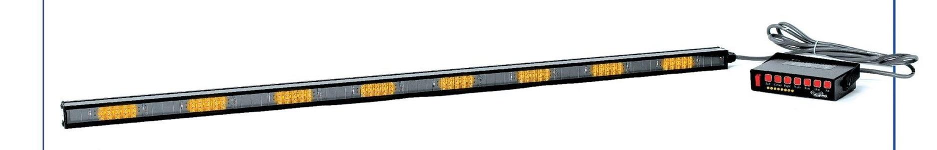 Star Headlight & Lantern - 3VPL9 - Amber, LED Directional Lightstick, 12VDC, Permanent Mounting, Length 48