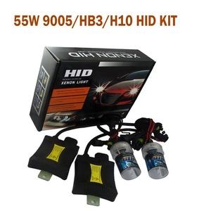 Spevert 1 Pair 9005/HB3/H10 12V 55W HID Xenon Conversion Kit Car Headlight Lamps Single Beam Bulbs with Slim Ballast - 5000K