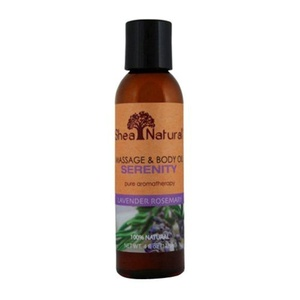 Shea Natural Massage and Body Oil, Serenity Lavender Rosemary, 4 Ounce by Shea Natural