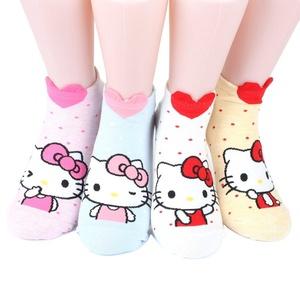 Hello Kitty Series Women's Original Socks 4 pairs (4 color) = 1 pack Made in Korea 02
