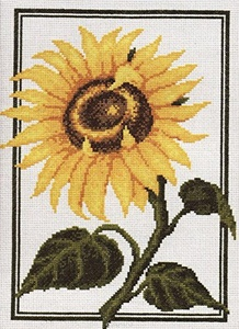 Set for embroidery by a cross the Sunflower Palette, 23 x 30 cm