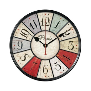 12 Inch Vintage Rustic Country Tuscan Style Silent Wooden Wall Clock Home Decor