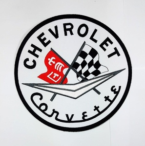 XXL BIG CHEVROLET CORVETTE Motors Cars Racing Patch biker Mc club Patch Biker jacket vest large Embroidered Iron on Hat Hoodie Backpack Ideal for Birthday Gift