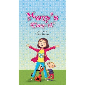 Mom's Plan-It 2-Year Pocket Planner 2017-2018 with PEN