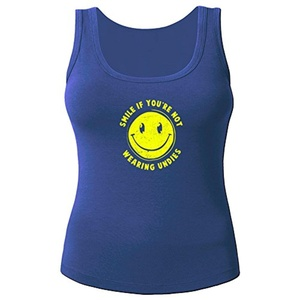 Smile For No Undies for Women Printed Tanks Tops Sleeveless T-shirt