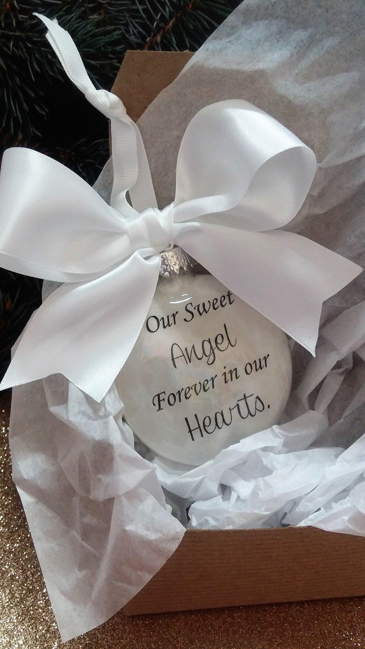 Baby loss ornaments - Baby Loss Christmas Ornaments Infant Loss Memorial In Memory Christmas Ornament Our Sweet Angel Forever