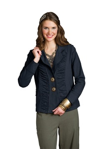 Neon Buddha Morgan Ruched Jacket Large Explorer Navy