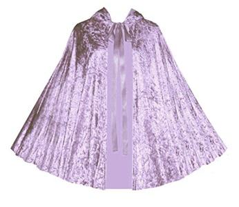 Victorian Vagabond Gothic Medieval Renaissance Steampunk Velvet Capelet Lilac Lavender