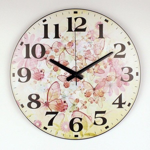 Beautiful Butterfly Wall Decoration Watch Clock Home Decoration Silent Wall Clock