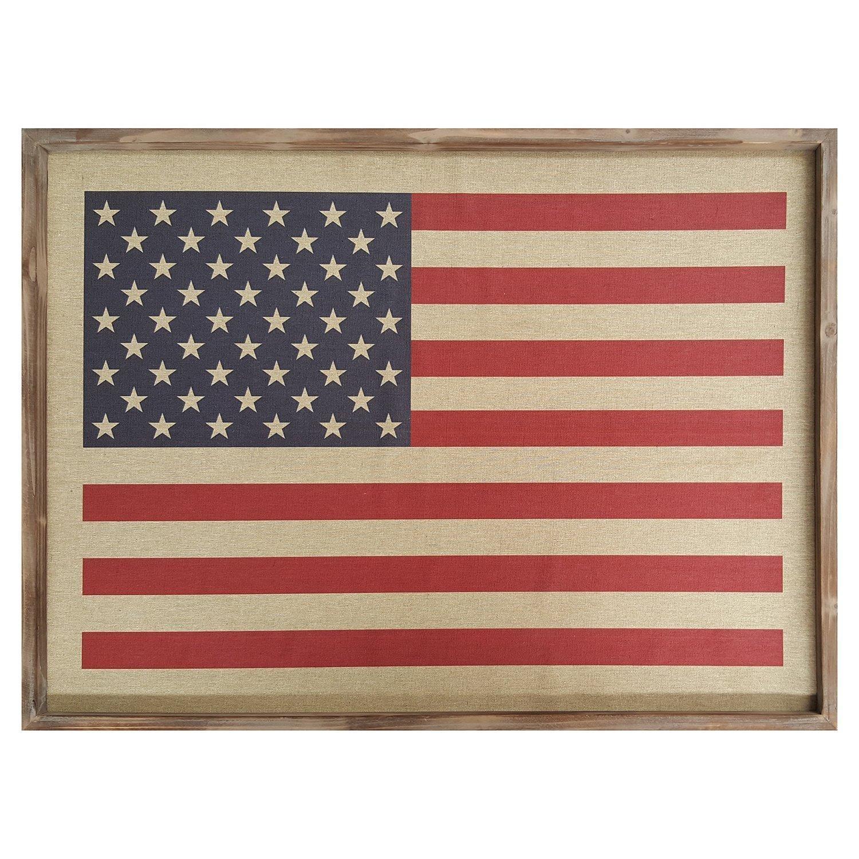 Stratton Home Decor S01986 American flag Wall Art