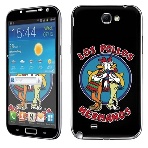 Samsung [Galaxy Note 2] Skin [NakedShield] Scratch Guard Vinyl Skin Decal [Full Body Edge] [Matching WallPaper] - [Los Pollo Hermanos] for Samsung Galaxy [Note 2]