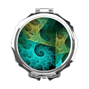 Girls and Ladies Fractal Fractal Spiral Mirror Compact