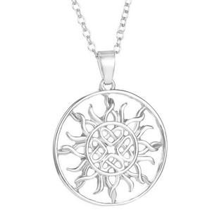 Gudeke Fashion Simple Womens Sun Flame Necklace Pendants 50cm Chain