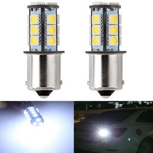 KATUR Amber 1157 BAY15D 1016 1034 Base 18 SMD 5050 LED Replacement for Car Incandescence Bulb Interior RV Camper Turn Tail Signal Brake Backup Lamp Parking Side Marker Lights 360 Lumens DC 12V 2-Pack