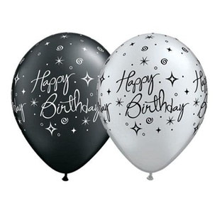 Elegant Sparkles Birthday Latex Balloons - Pack of 25 by Qualatex