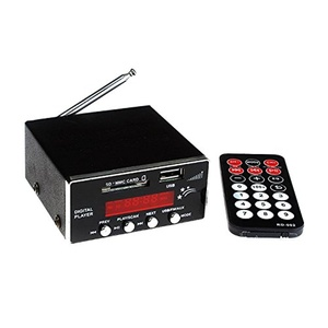 Ake Mini Digital Display Player FM Radio Card Reader MP3 Decoder with Remote Control for USB SD Car