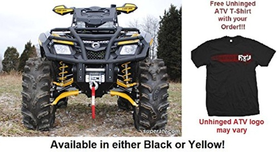 Bundled 2 items: Super ATV Can-Am Outlander (Gen 1) High Clearance A-Arms and FREE Unhinged ATV T-Shirt