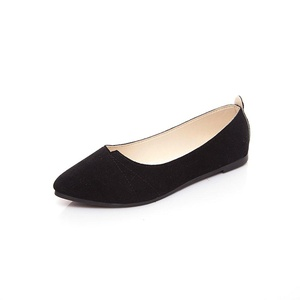 Venkes Women's Suede Pointed toe Flat Heel Slip on Shoes