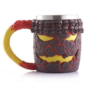Creative Halloween Magma Monster Cup 3D Skull Beer Coffee Mug Stainless Steel
