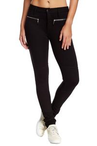 Joe's Deep Junior Zip Pocket Stretched Zipper Pants Black 23