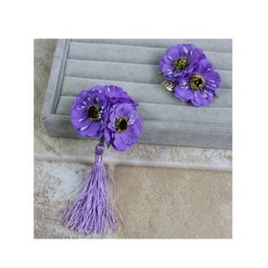 Handmade Hair Clips Headpiece Pretty Flower Accessories Head Pieces Prom Headdress Headwear