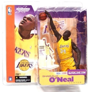 McFarlane Toys NBA Sports Picks Series 2 Shaquille O'Neal (Los Angeles Lakers) Yellow Jersey Action Figure by McFarlane's Sportspicks
