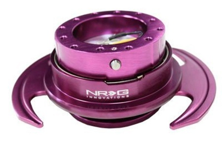 NRG Gen 3.0 Steering Wheel Quick Release Kit Purple Color (Part: SRK-650PP) by Quick Release