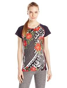 Desigual TS FR Short Sleeve Women's T-Shirt B White white Size:L by Desigual