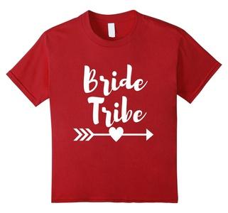 Kids Bride Tribe Bachelorette Party Wedding Shirt 6 Cranberry