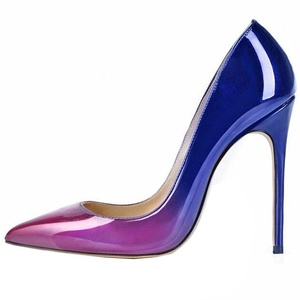 Lovirs Womens Purple-blue Pointed Toe High Heel Slip On Stiletto Pumps Large Size Wedding Party Basic Shoes 12 M US