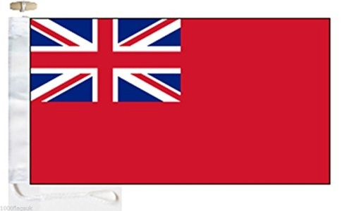 Merchant Navy Red Ensign Courtesy Boat Flag - Roped & Toggle - 5'x3' - 150cm x 90cm