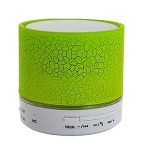 LEDHOLYT Mini Portable Bluetooth Speaker LED Light Supporting TF Card Subwoofer Lamp (Green)