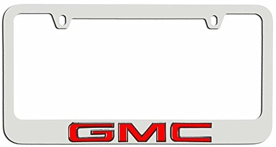 gmc license plate frame holder