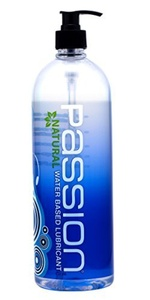 Passion Lubes, Natural Water-Based Lubricant, 34 Fluid Ounce by Passion Lubes