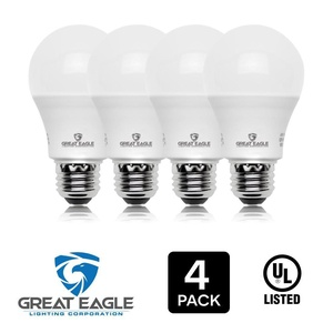 Great Eagle 100W Equivalent LED Light Bulb 1590 Lumens A19 2700K Warm White Non-Dimmable 14-Watt UL Listed (4-pack)