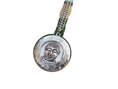 Silver Buddha locket necklace,buddha locket pendant,buddha head locket ,buddha jewelry,yoga,zen